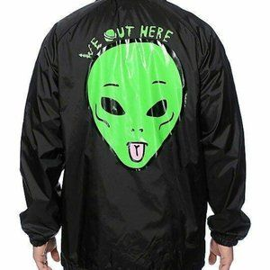 RIPNDIP We Out Here Coach Jacket size Large
